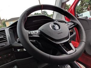 CUSTOM VW T6 TRANSPORTER SWB HIGHLINE KOMBI IN MATT HOT ROD RED WRAP