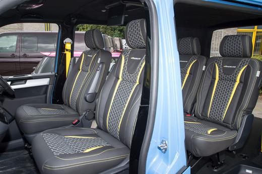 COLOURED SEATS BELTS ROW 2  X 2 BELTS