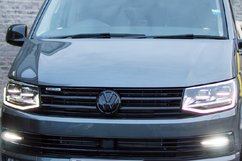 VW T6 GLOSS BLACK FRONT UPPER GRILL