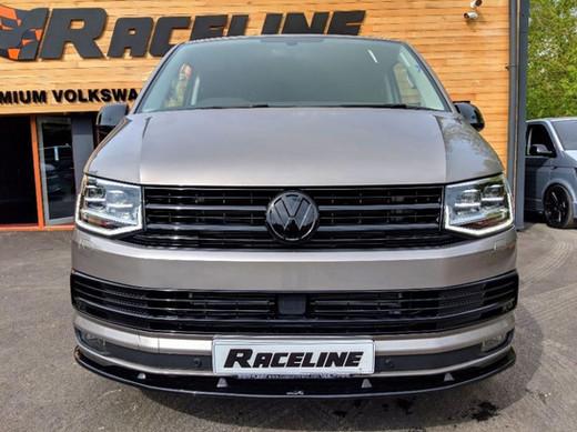 RACELINE VW T6 FRONT SPLITTER IN GLOSS BLACK