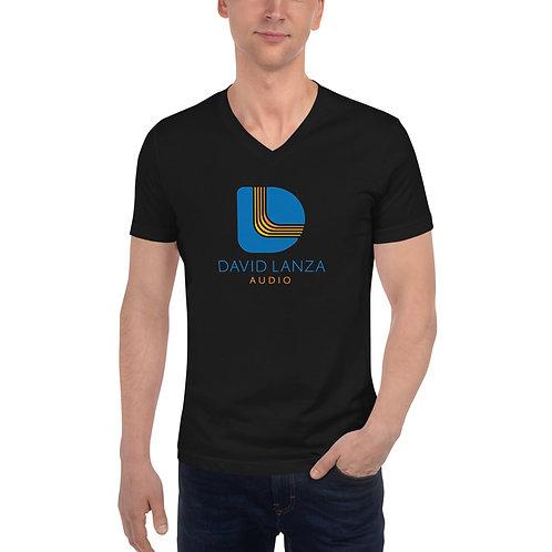 V-Neck Shirt - Blue Logo
