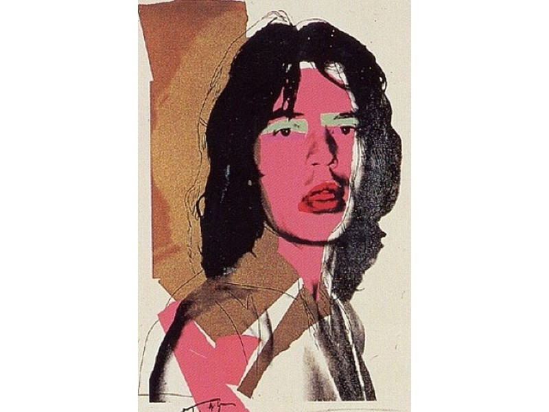 Polaroids that inspired Andy Warhol's silkscreens - Mick Jagger.jpg
