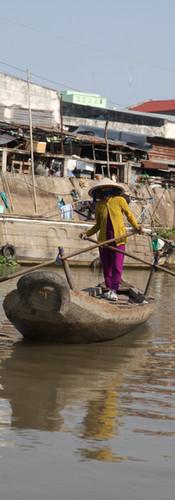 Pecheuse dans le mekong