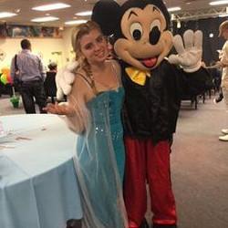 Elsa and Mickey