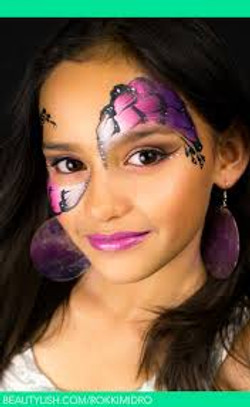 Side Butterfly Face Painting