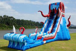 OCEAN BATTLE 25' WITH OR WITHOUT SLIP N SLIDE