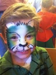 Green Lion Face Painting