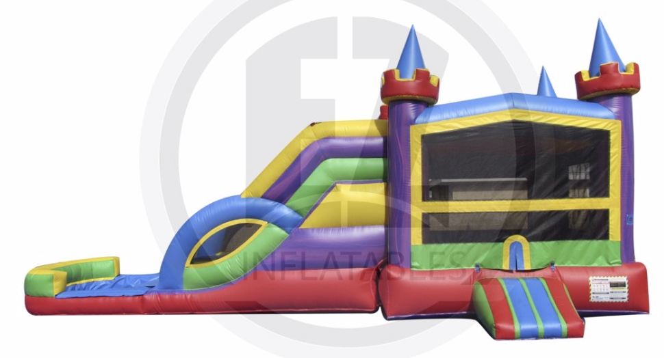 Dual Lane Combo Bounce house