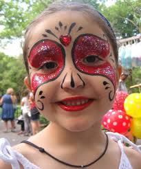 Red Princess Face Painting