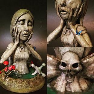 OOAK-Polymer-Fantasy-Art-Doll-Bust-Sculp