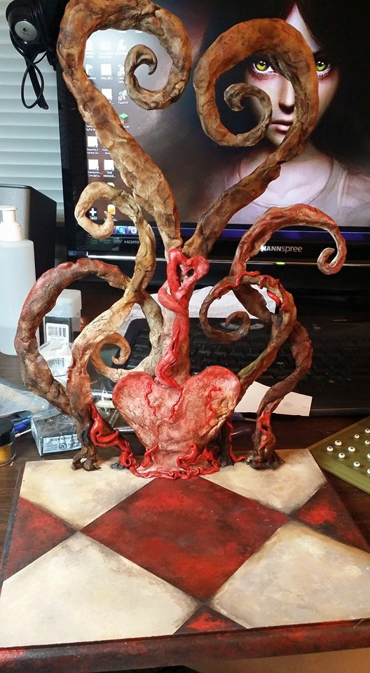 Handcrafted American McGee Alice Inspired Art Doll Base by Kendra Gilbert
