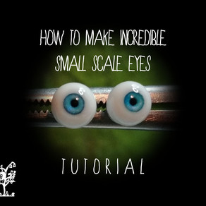 TUTORIAL: How to Make Incredible Handmade Eyes for your Figurative Art Doll Sculptures!