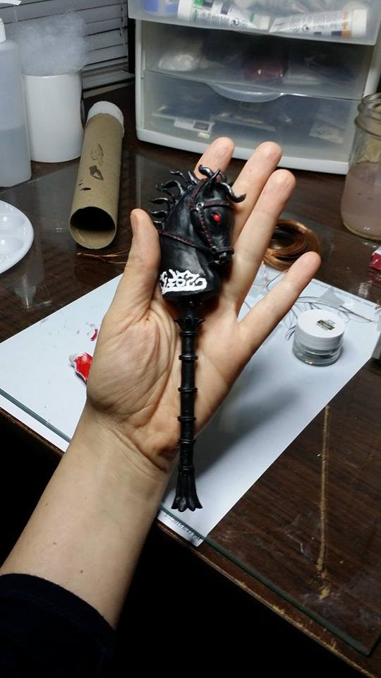 Handcrafted Dark Hobby Horse by Kendra Gilbert