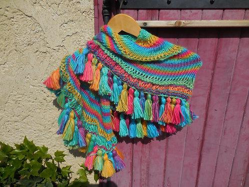 Châle tricotée main