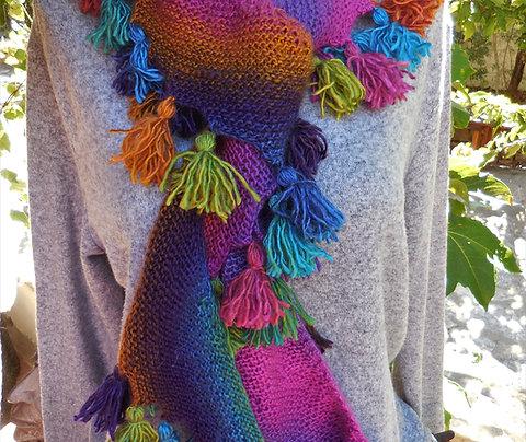 Echarpe tricotée main
