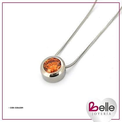 Belle Collar Resplandor Naranja