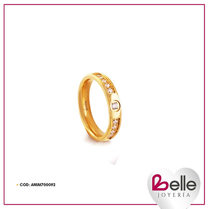 Belle Anillo Promesa Gold