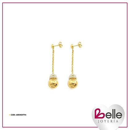 Belle Aretes Letizia Gold