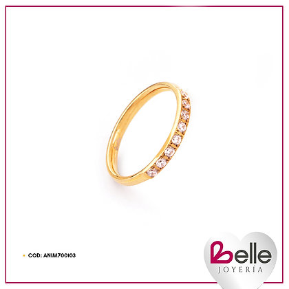 Belle Anillo Sweetheart Gold