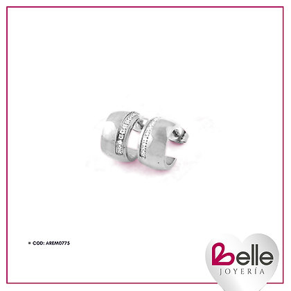 Belle Aretes Silver Bow