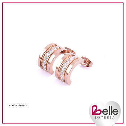 Belle Aretes Pink Glow