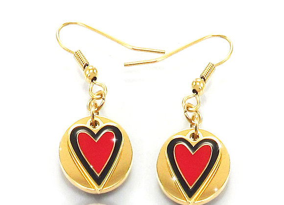 Belle Pendientes Red Love