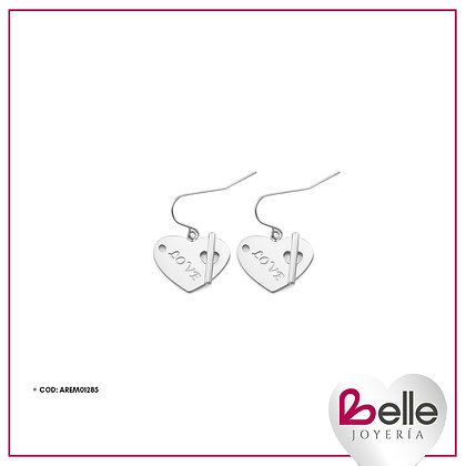 Belle Aretes Silver Love
