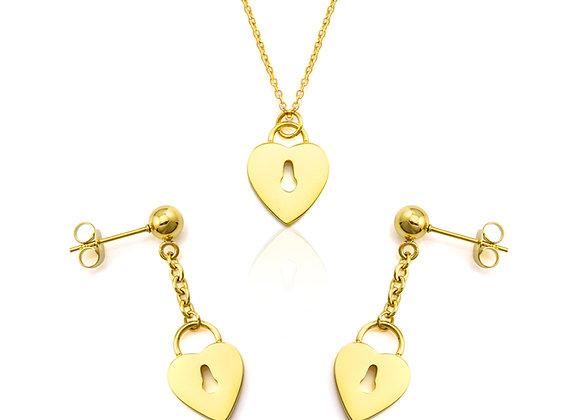 Pendiente Amor Return Gold