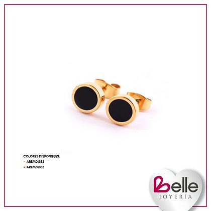 Belle Aretes Gold & Black