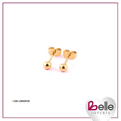 Belle Aretes Gold Sparkles