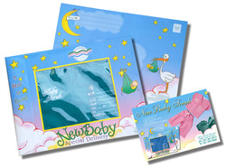Baby Scrubs Packaging & Postcard