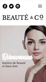Mode et Beauté website templates – Salon de beauté