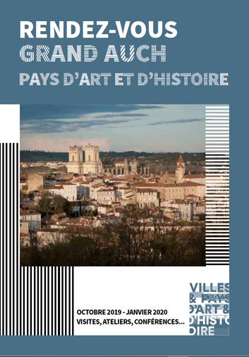 Programmation Pays d'art et d'histoire octobre 2019 à janvier 2020