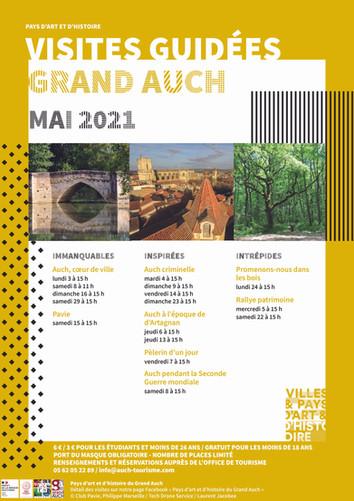 Visites guidées Grand Auch Mai-Juin 2021
