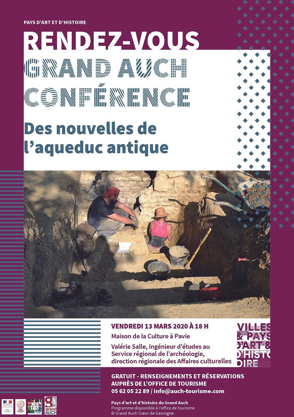 conférence aqueduc antique rendez-vous grand auch