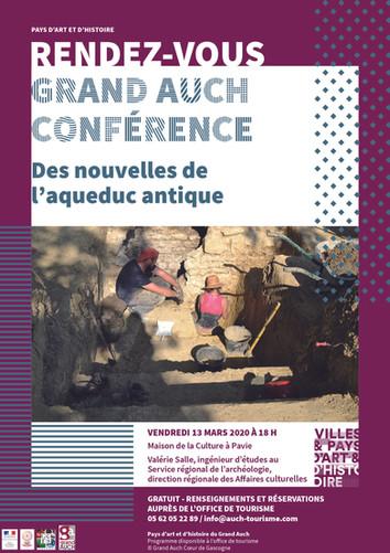 Rendez-vous Grand Auch : Conférence Aqueduc Antique le 13 mars 2020