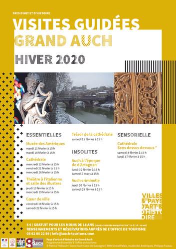Visites guidées Grand Auch hiver 2020 : du 8 février au 7 mars