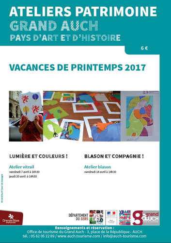 Ateliers Patrimoine pour les enfants - avril 2017