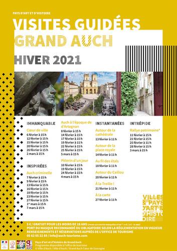 Visites guidées Grand Auch hiver 2021
