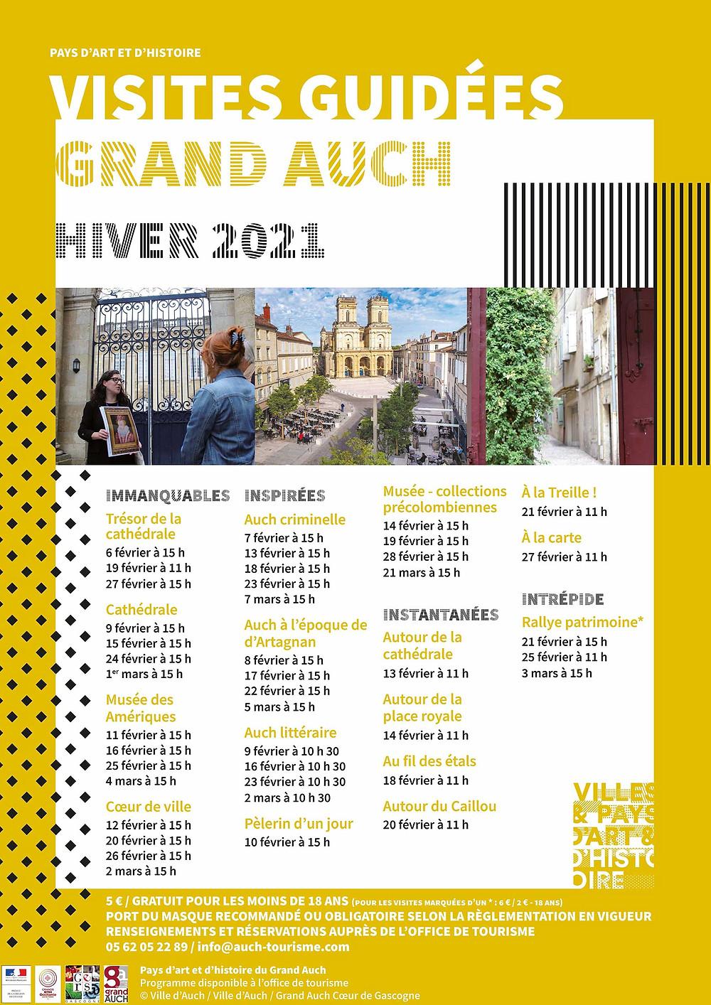 visites guidées grand auch hiver 2020