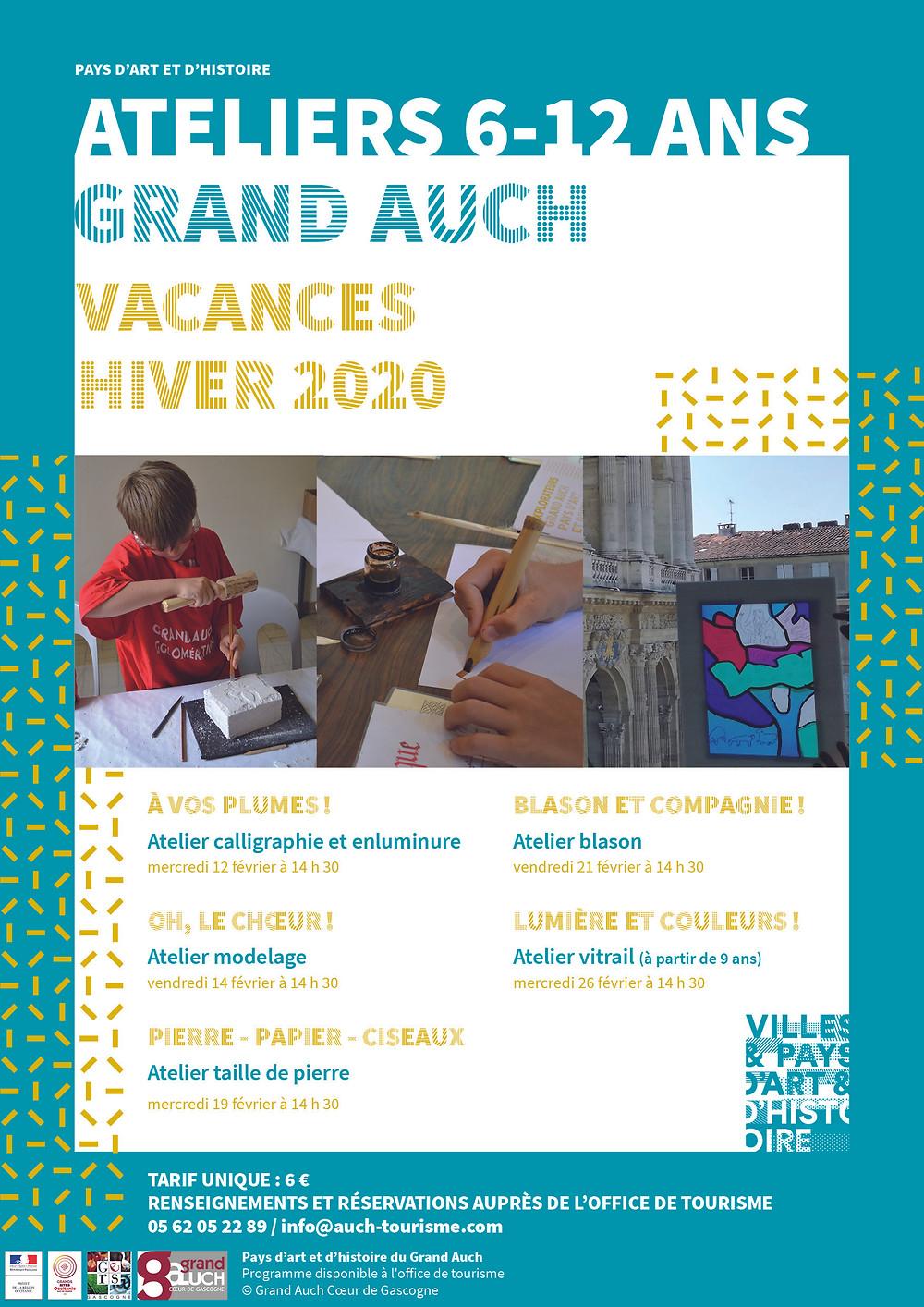 ateliers 6-12 ans vacances d'hiver 2020