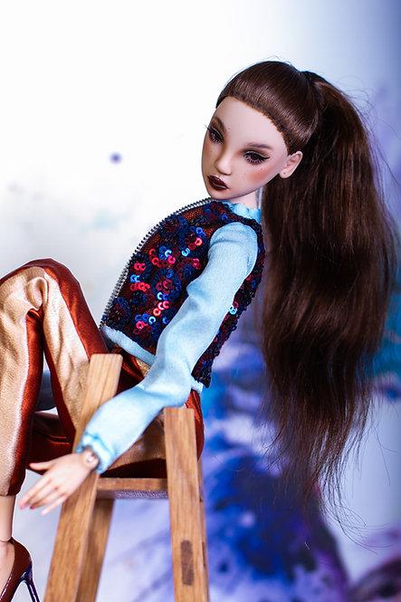 Brown ponytail for Asami