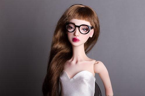 Black School shape glasses