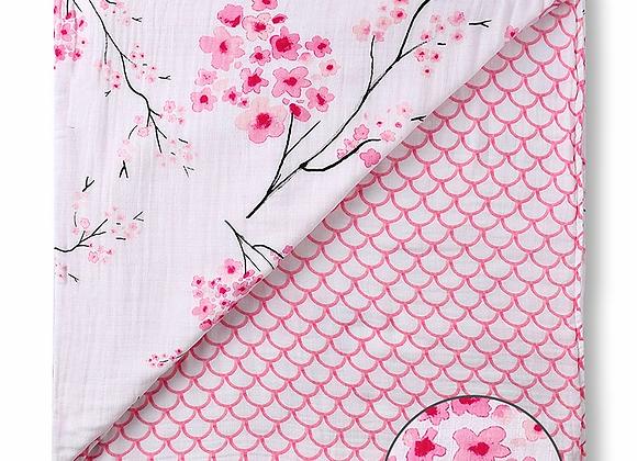 Muslin Snug Blanket (4 Layer) - Cherry Blossom