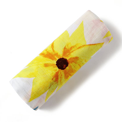Malabar Baby Organic Swaddle - Sunflower