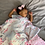 Thumbnail: Malabar Baby Muslin Snug Blanket (4 Layer) - Cherry Blossom