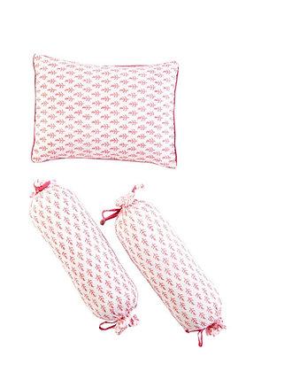 Malabar Baby South side Pink Pillow & Bolster Set