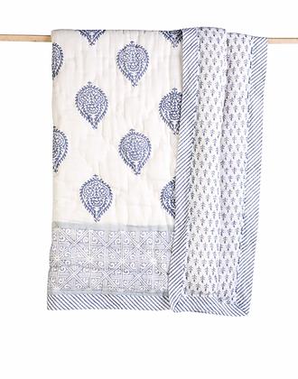 Malabar Baby Fort Cotton Quilt - Natural