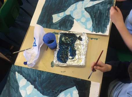 My (after school) art club helps children discover Art.