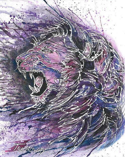 Purple Lion-Heart